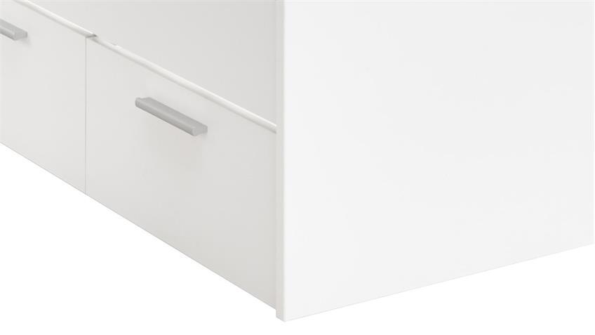 Jugendbett BIBO mit 3 Schubkästen Dekor weiß 90x200