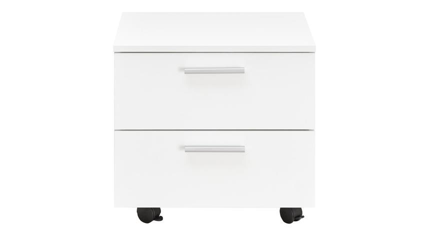 Rollcontainer BIBO weiß 2 Schubkästen Modernes Design