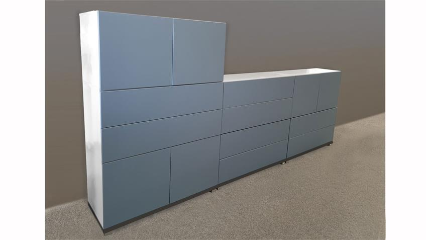 Mehrzweck Kommode Highboard Bright weiß blau