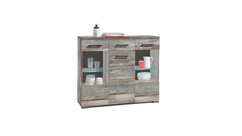 Highboard GOMERA Kommode Sideboard in Driftwood mit LED