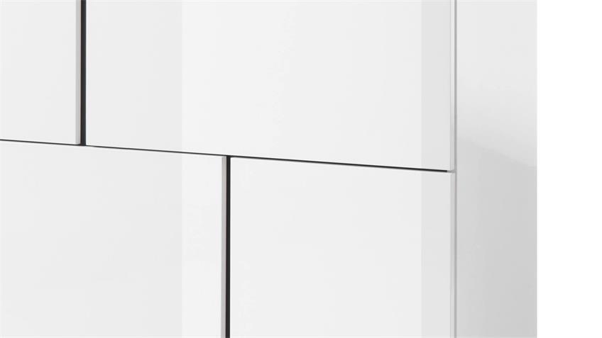 Kommode 4 PADUA LIGHT Aufbewahrung weiß Glanz grau