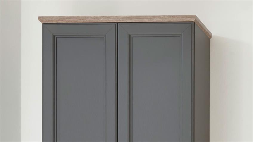 Garderobenschrank TOSKANA Flurschrank grau Timber wood