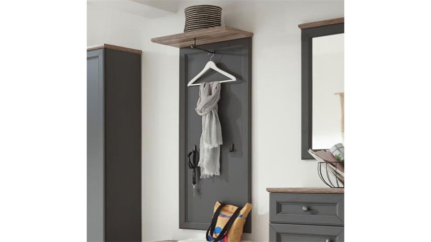 Garderobenpaneel TOSKANA Garderobe grau Timber wood