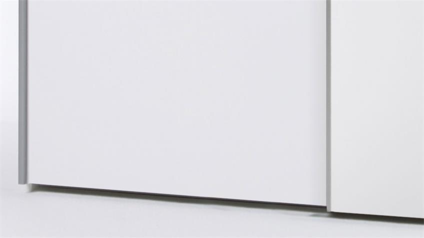 Kleiderschrank PULS weiß 2-türig Schwebetürenschrank