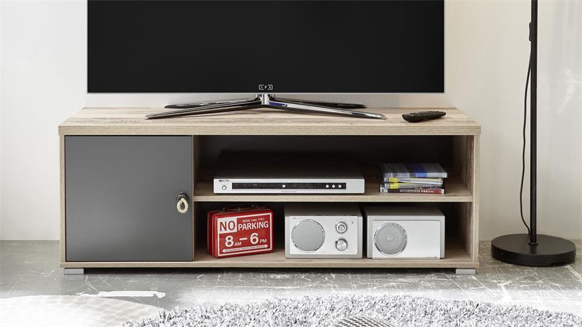 Lowboard TV-Board Merlin Old Style anthrazit 120 cm