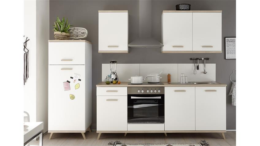 Küchenzeile QUINCE weiß Sonoma Eiche Küchenblock 270 cm
