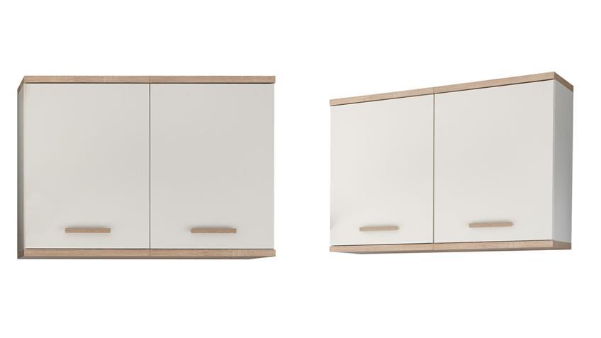 Küchen Hängeschrank QUINCE 100 cm weiß Sonoma Eiche