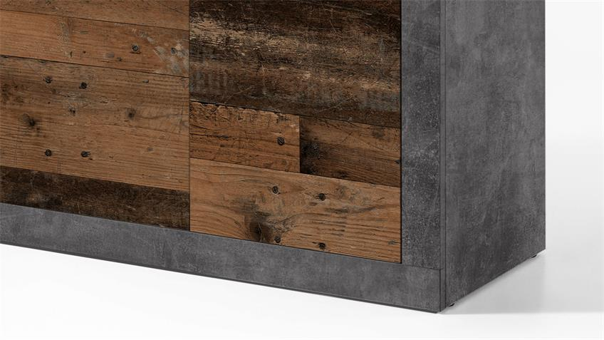 Kommode 1 INDIANA Anrichte Beton grau old wood vintage