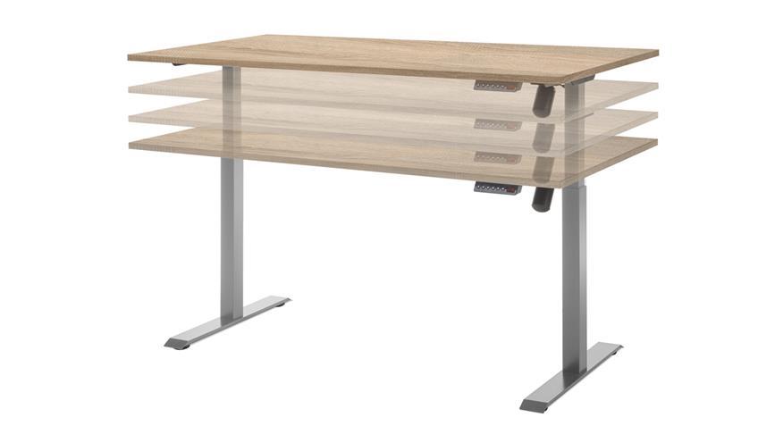 Schreibtisch Pronto Sonoma Eiche höhenverstellbar 160x80
