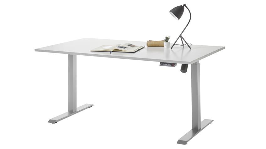 Schreibtisch Pronto lichtgrau elektrisch höhenverstellbar