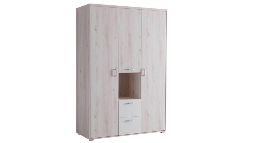 Kleiderschrank CUBY Aurum weiß Babyzimmer Schrank 3-trg