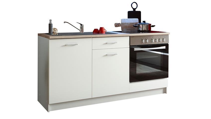 Küchenblock WOW Küchenzeile Sonoma Eiche weiß Küche