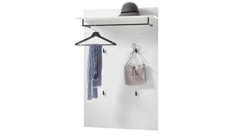 Garderobenpaneel NYON weiß Hochglanz Paneel Flur Diele