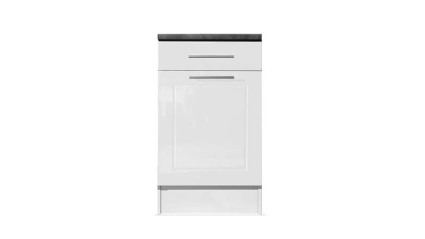 Unterschrank VALENZIA 2 weiß Hochglanz Küche 50 cm