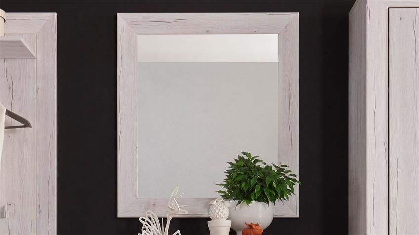 Spiegel JAMBO Garderobenspiegel Weißeiche 71 cm