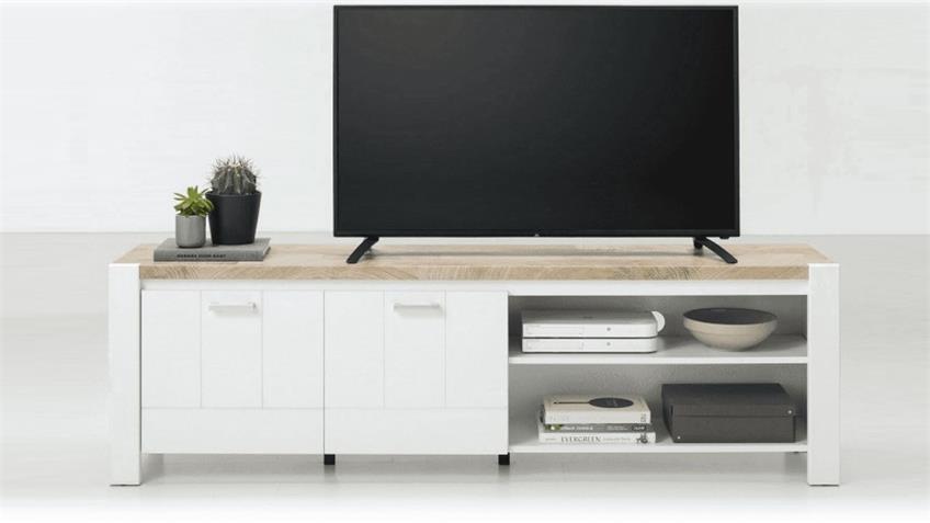 TV-Board LOUISA Westminster Eiche weiß 190 cm