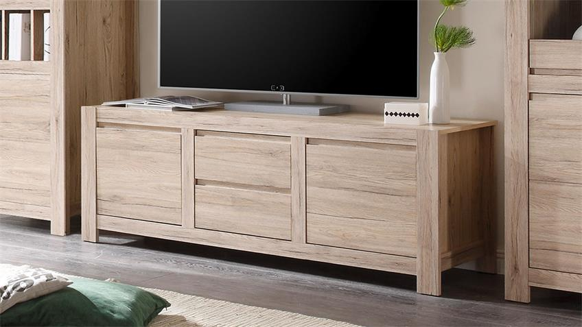 TV-Board COUNTRY Eiche San Remo hell 164 cm
