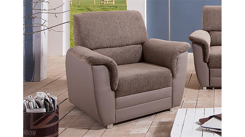 sessel monti einzelsessel polstersessel in schlamm und braun. Black Bedroom Furniture Sets. Home Design Ideas