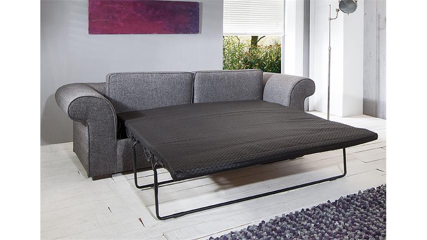 Sofa 3er PENELOPE in grau mit Liegefunktion Breite 222 cm