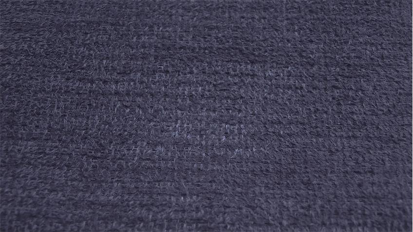 Sessel PAMIRA in Stoff dunkelblau inkl. Nosagfederung