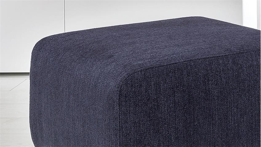 Hocker PAMIRA in Stoff dunkelblau inkl. Schwingfunktion