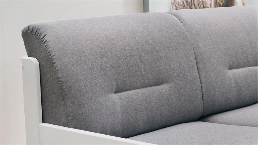 Schlafsofa 1 KAMPUS Sofa 2-Sitzer Stoff hellgrau Liegefunktion 154 cm