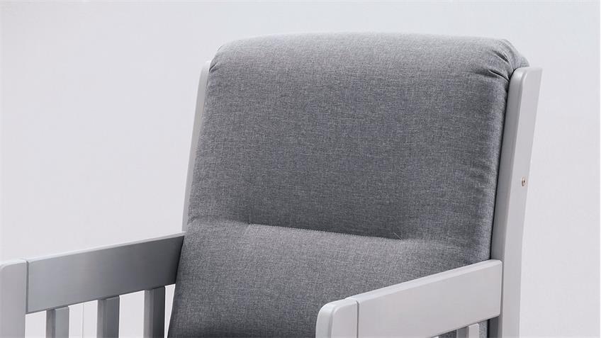Sessel KAMPUS Einzelsessel Fernsehsessel 1-Sitzer in Stoff hellgrau