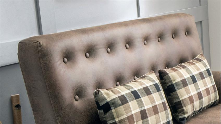 2er Küchensofa SCALEA 2-Sitzer Stoff hellbraun Federkern inkl. Kissen