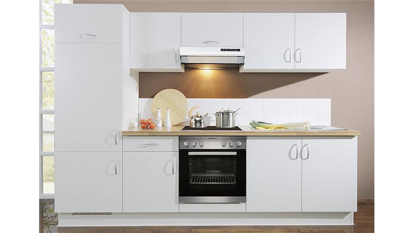 AVANT Küchenzeile II Weiß/Nussbaum/Links - inkl. E-Geräte