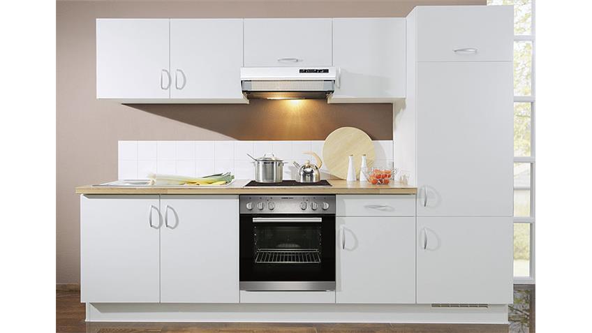 AVANT Küchenzeile II Weiß/Nussbaum/Rechts - inkl. E-Geräte