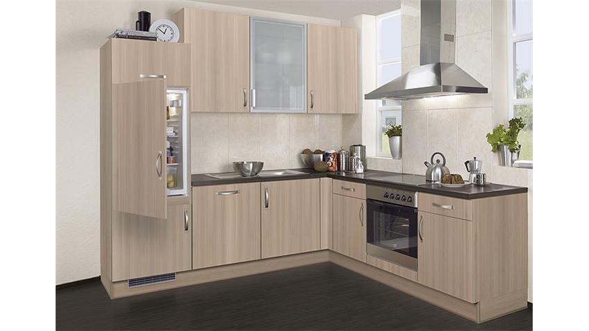 Exclusiv Einbauküche L-Küche mit E-Geräte und Geschirrspüler