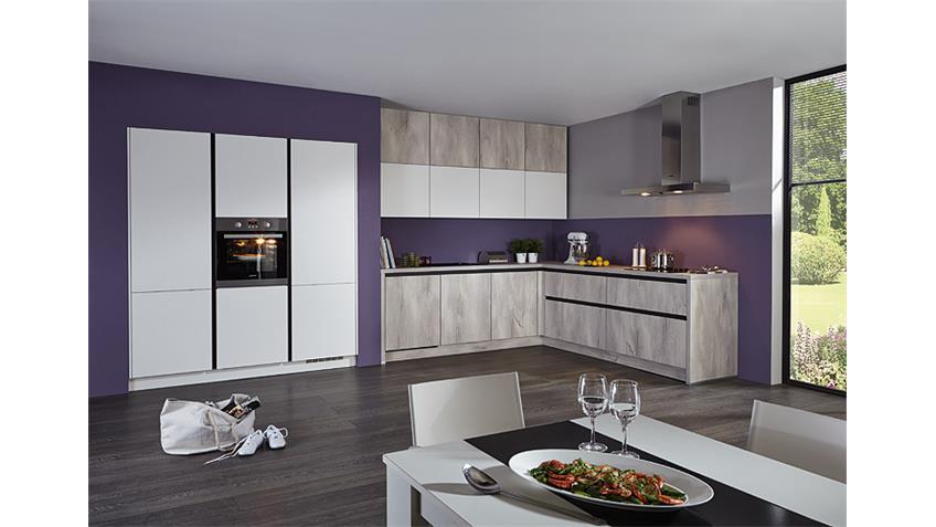 Brigitte Einbauküche L-Küche inkl. E-Geräte 1503