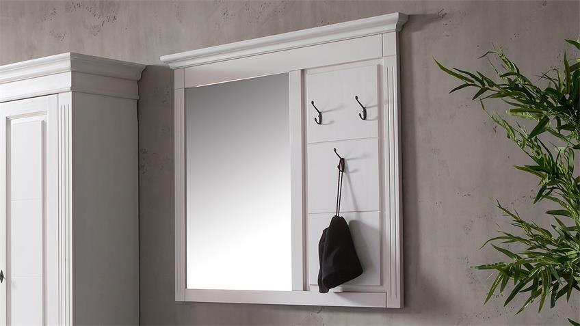 Garderoben-Set 1 LEONA Astfichte massiv natur weiß lasiert