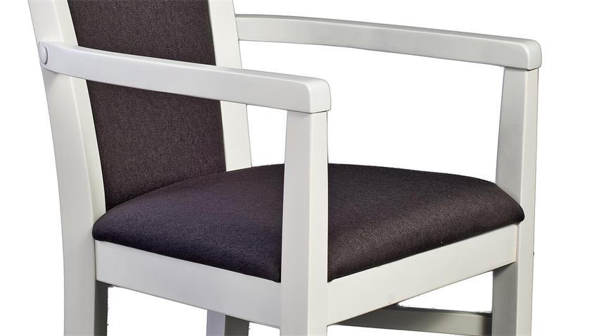 Esszimmer wei braun neuesten design for Esszimmer armlehnstuhl