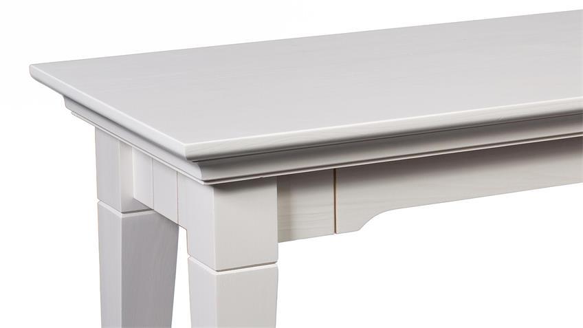 Sitzbank LEONA in Astfichte massiv weiß lasiert 180 cm
