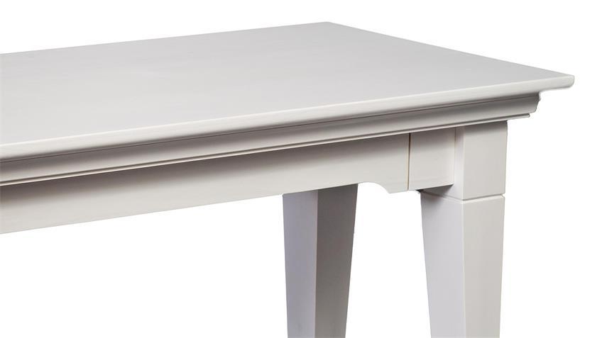 Sitzbank LEONA in Astfichte massiv weiß lasiert 140 cm