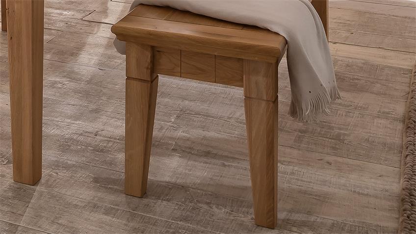 Sitzbank BEVERLY Wildeiche teilmassiv geölt 140 cm