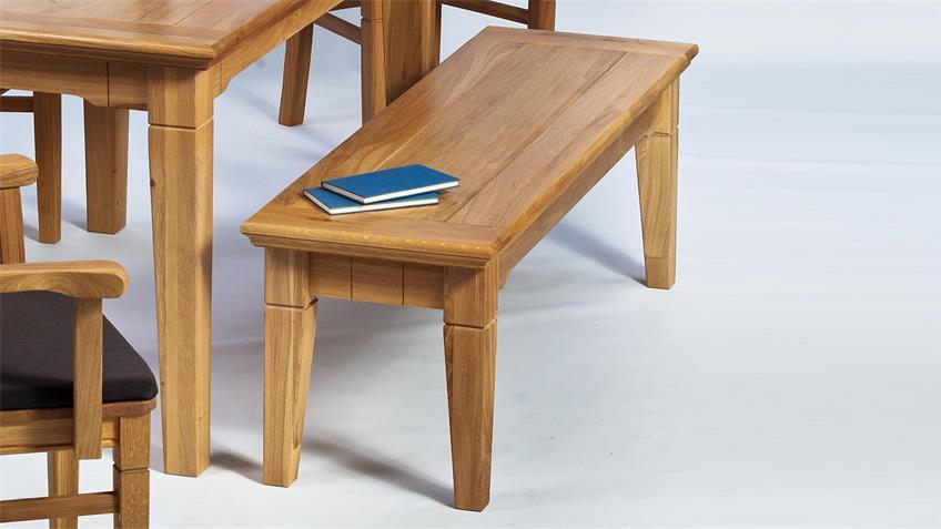 Sitzbank BEVERLY Wildeiche teilmassiv geölt 160 cm