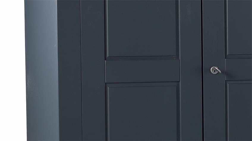 Dielenschrank VIENNA Wildeiche teilmassiv anthrazit lackiert