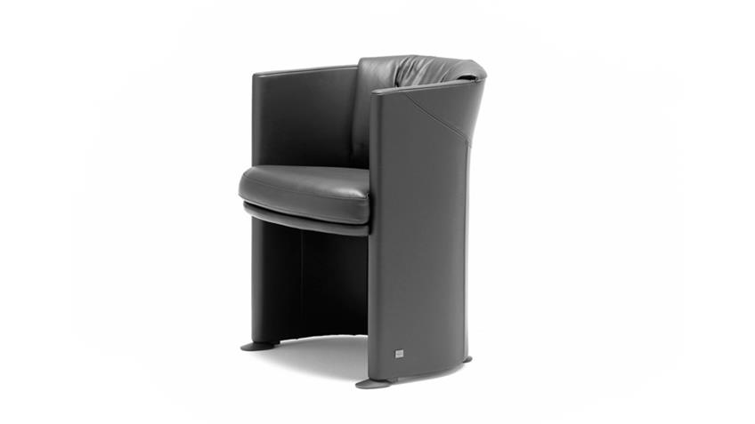 Stuhl Sessel Rolf Benz ST SE 7500 Echtleder schwarz