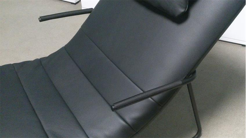 longchair freistil 163 rolf benz relaxliege leder schwarz. Black Bedroom Furniture Sets. Home Design Ideas