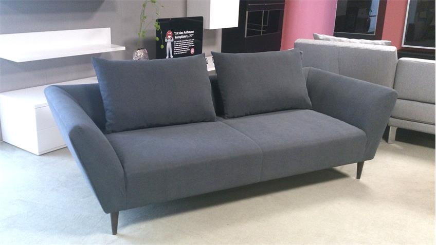 sofa freistil 176 rolf benz sofabank stoff grau 2 kissen. Black Bedroom Furniture Sets. Home Design Ideas