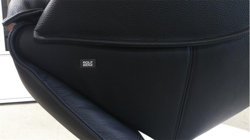 Liegesessel Rolf Benz L-SE-AT-577 Leder schwarz Funktion