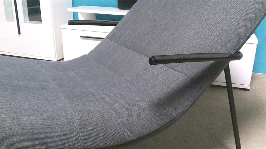 Longchair Freistil 163 ROLF BENZ Relaxliege Stoff grau