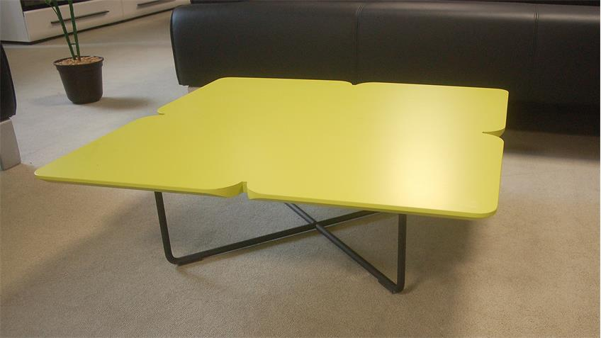 rolf benz couchtisch freistil 195 kleeblatt avocadogr n 79x79 schwarz. Black Bedroom Furniture Sets. Home Design Ideas