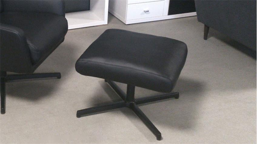 Hocker Rolf Benz HCK 560 Echtleder schwarz