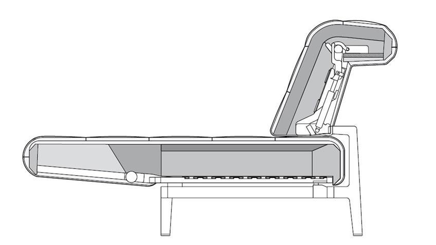 Sofa AGIO 342 ROLF BENZ Komfort- Relaxfunktion Stoff silbergrau