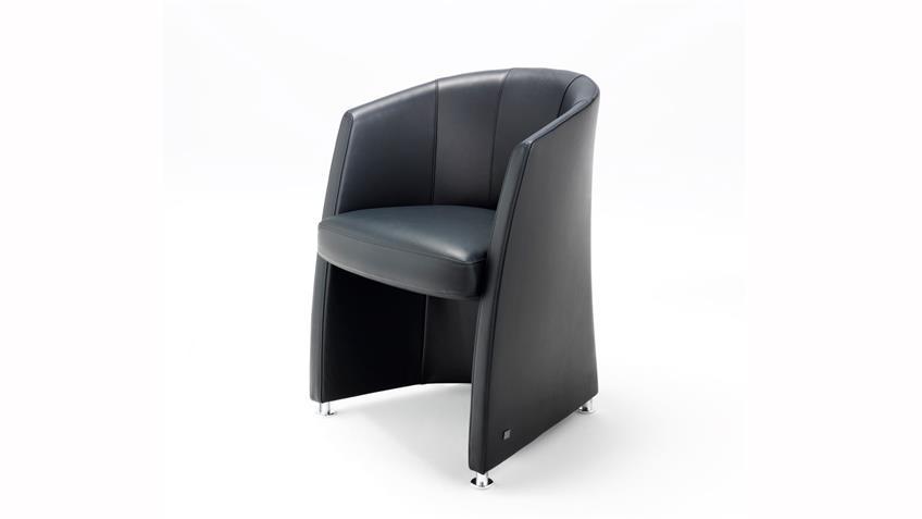 ROLF BENZ Sessel ST SE 7300 Cocktailsessel Echt Leder schwarz