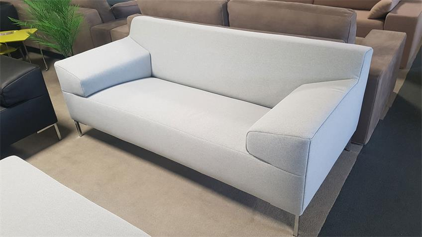 Sofa Freistil 180 lichtgrau Bezug Stoff Breite 200 cm Rolf Benz