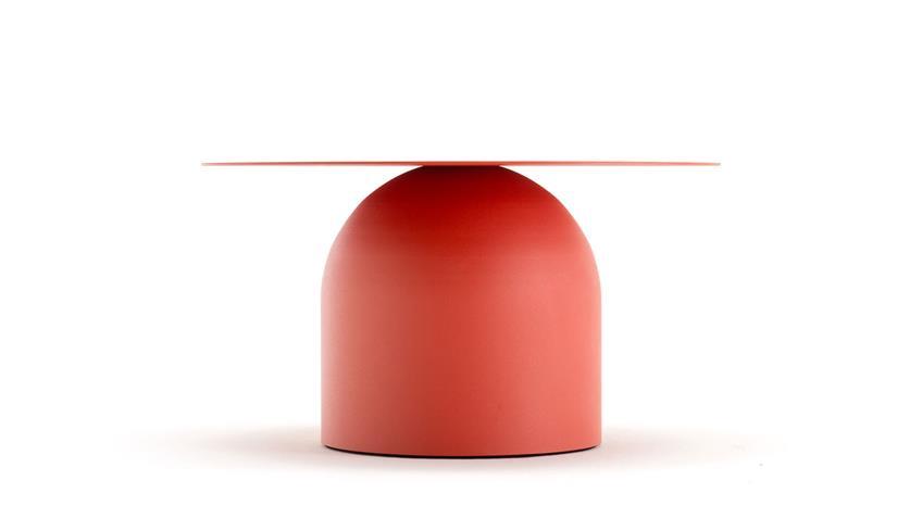 Couchtisch Stahlblech rot Ø 70 cm freistil 154 Rolf Benz